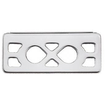 Pendentif Infini Laiton Finition Argent Rectangle 25 mm