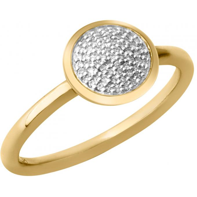 Links of London Bague Links of London 5045-5492 - Diamond Essential Rond en Vermeil Or Jaune 18 ct Femme 5045-549250 Links of London