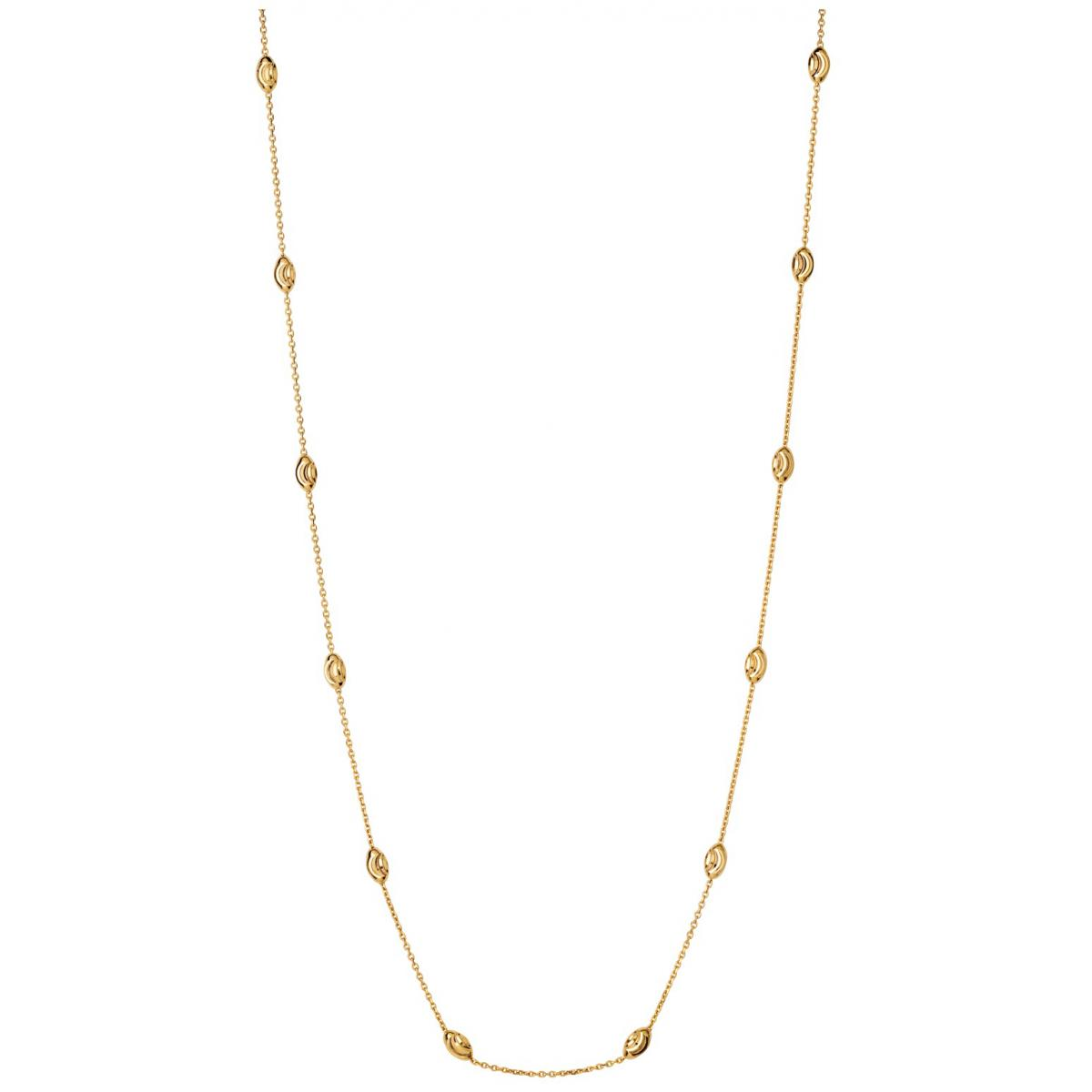 collier femme or perle