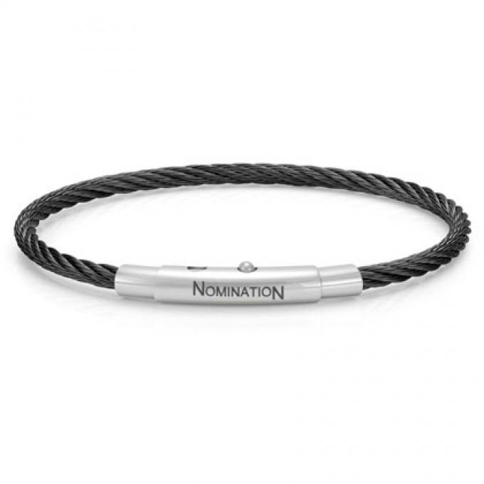 Nomination Bracelet Torsade Noir 024148-015 Nomination