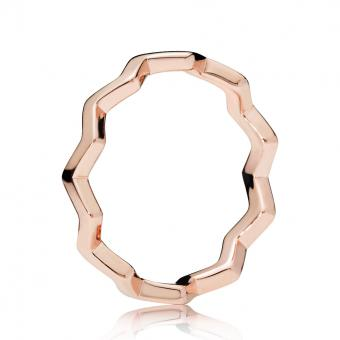 Bague Zigzag Intemporel Rose Femme