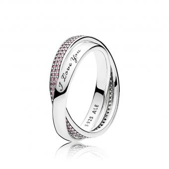 Pandora - Bague Douce Promesse - Charms pandora rose