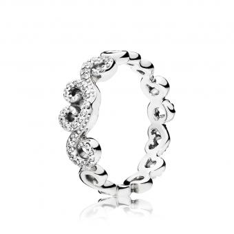 Pandora - Bague Volutes de Coeurs - Collection pandora printemps 2018