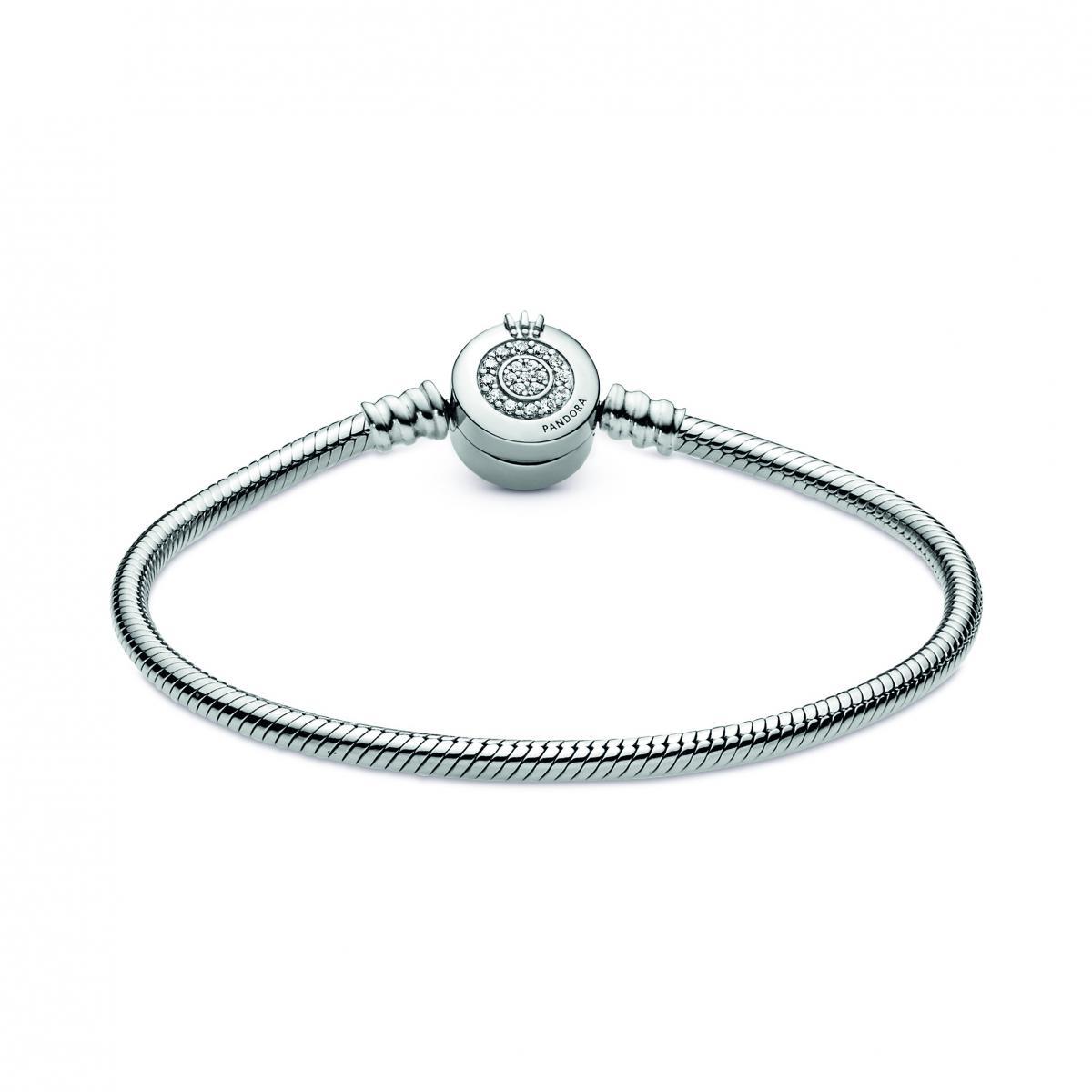 Bracelet Maille Serpent Fermoir O Couronne Scintillant 599046C01 - Bracelet  Femme