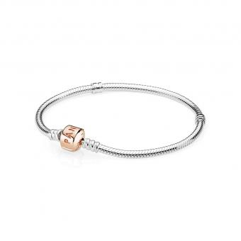 Pandora - Bracelet Moments Argent Rose - Bracelet charms