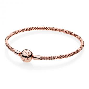 Pandora - Bracelet Maille Tissée Moments Rose
