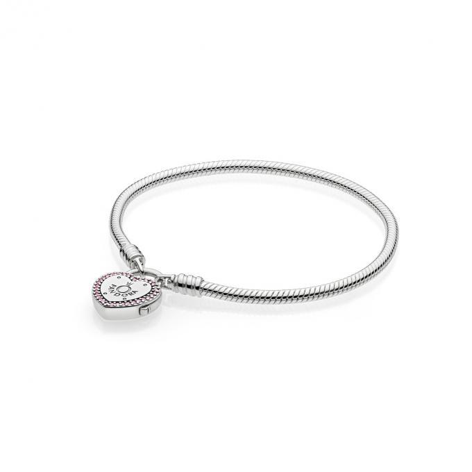 Pandora Bracelet Moments en Argent, Promesse d\u0027Amour 596586FPC,17