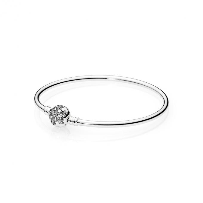 Pandora Jonc Moments Argent Flocon de Neige Unique 590740CZ-21 Pandora