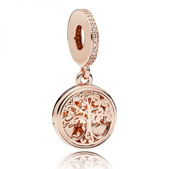 collier or rose femme pandora
