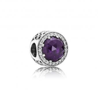 Pandora - Charm Cœurs Lumineux Violet Royal