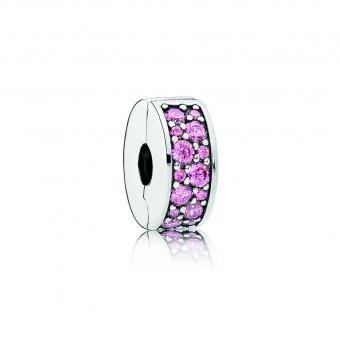 Pandora - Charms Clip Élégance Brillante Rose Femme