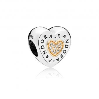 Pandora - Charm Coeur Signature - Charms or