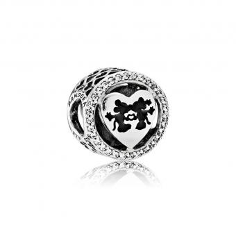 Pandora - Charm Disney Icones D'Amour De Minnie et Mickey - Charms en argent