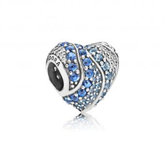 Pandora - Charm Coeur Aquatique - Collection pandora printemps 2018
