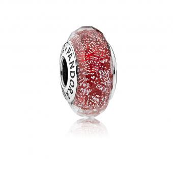 Pandora - Charm Murano Scintillant Rouge - Bijoux charms rouge