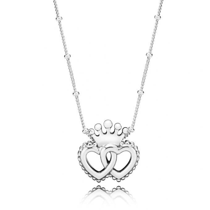 b47f5439bcb Pandora Collier et pendentif Collier Union de Coeurs Royaux Femme 397719-45