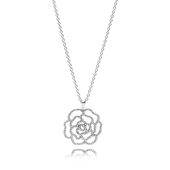 Collier Pendentif Rose Fleur Bijoux Populaires 2018