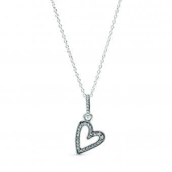 Collier pendentif Esquisse de Coeurs