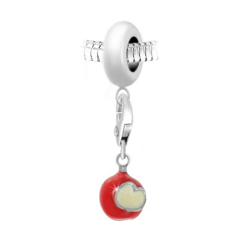 So Charm - BEA0044+CH0435-argent - Bijoux charms rouge