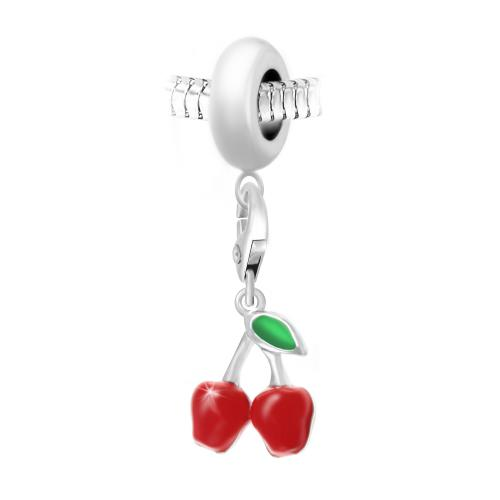 So Charm - BEA0044+CH0450-argent - Bijoux charms rouge