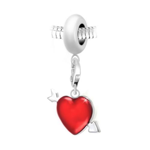 So Charm - BEA0044+CH0728-argent - Bijoux charms rouge