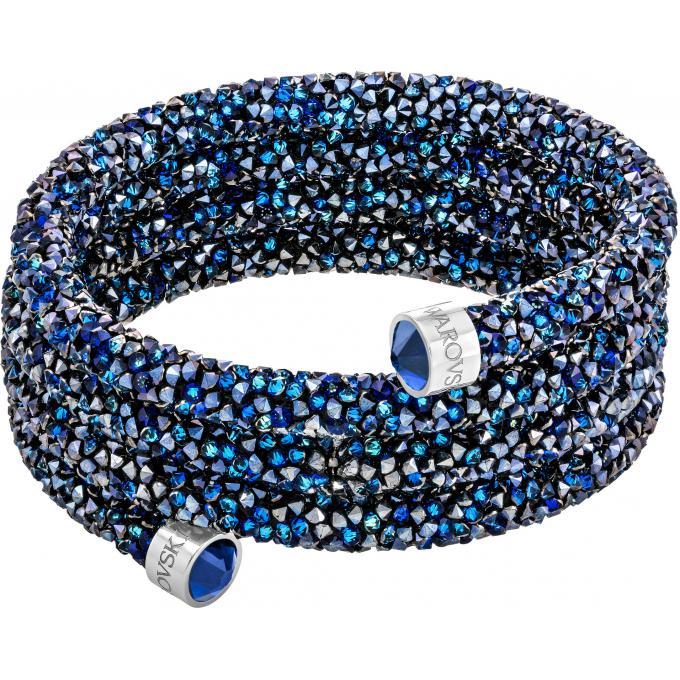 bracelet swarovski bijoux 5294804 triple tour cristal bleu femme swarovski bracelet sur look or. Black Bedroom Furniture Sets. Home Design Ideas