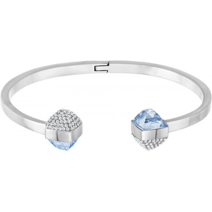 bracelet swarovski bijoux 5294964 jonc argent cristaux femme swarovski bracelet sur look or. Black Bedroom Furniture Sets. Home Design Ideas