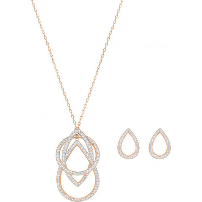 coffret swarovski bijoux 5292395 cercles serties femme swarovski coffret parure bijoux sur. Black Bedroom Furniture Sets. Home Design Ideas