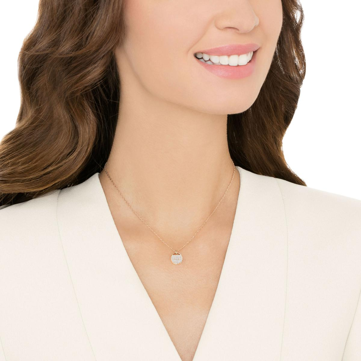 Collier et pendentif Swarovski Bijoux 5265913 - Plaque Or rose Femme