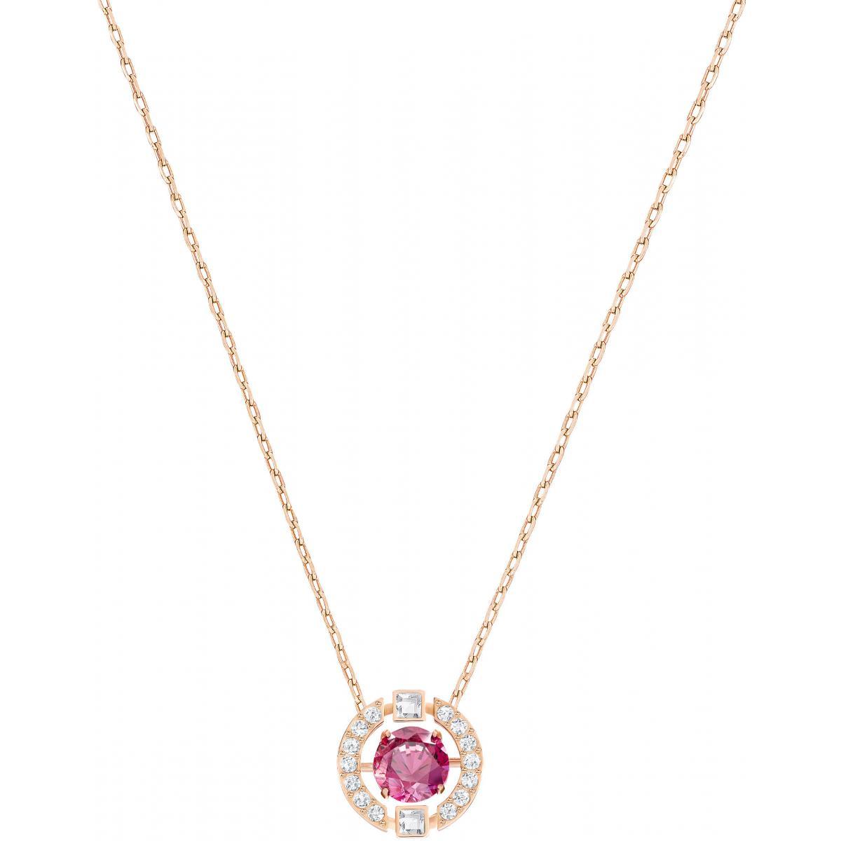 Collier et pendentif Swarovski Bijoux 5279421 - Acier Cristal Rose Femme