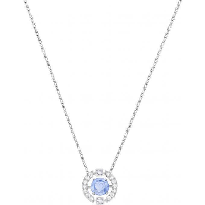4c0369a4325 Collier et pendentif Swarovski Bijoux 5279425 - Acier Cristal Bleu ...