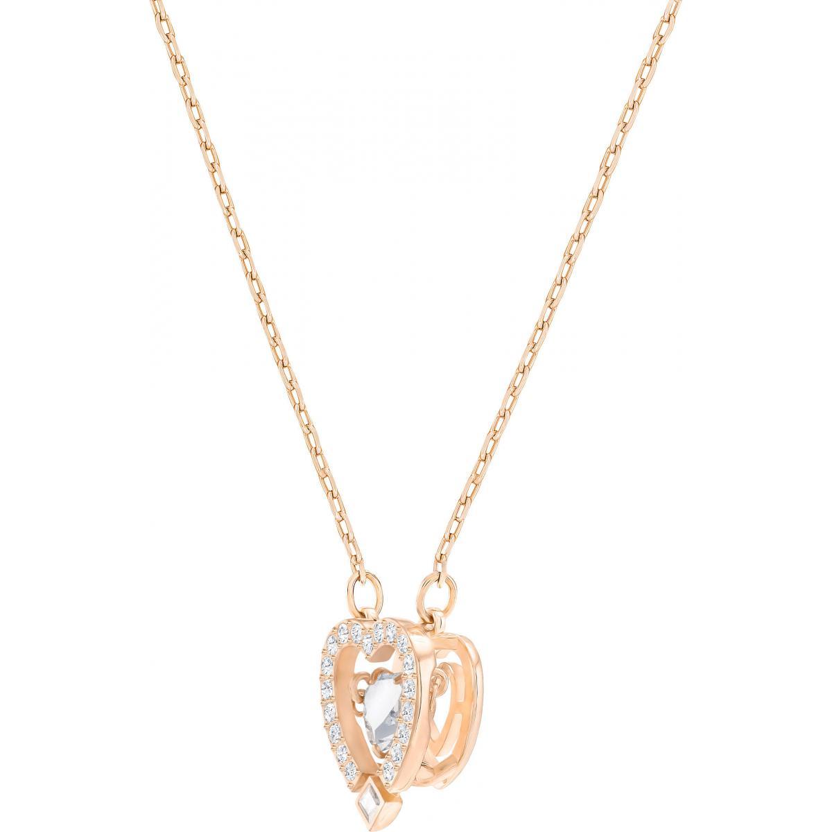 Collier et pendentif Swarovski Bijoux 5284188 - Chaine Cœur Sertie Femme