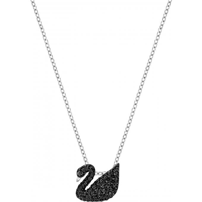 code promo d2dd0 e8e1f Collier et pendentif Swarovski Bijoux 5347330 - Noir Cygne Serti Femme Plus  d'infos
