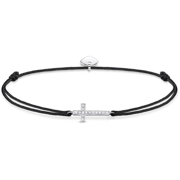 bracelet thomas sabo ls013 401 11 little secret croix argent cristaux femme thomas sabo. Black Bedroom Furniture Sets. Home Design Ideas