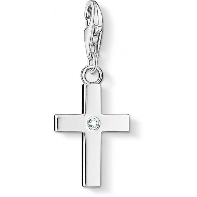 charms croix sertie femme thomas sabo charms et perles. Black Bedroom Furniture Sets. Home Design Ideas
