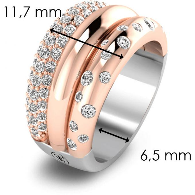 Bague Ti Sento or rose 12113ZR-54 Ti Sento