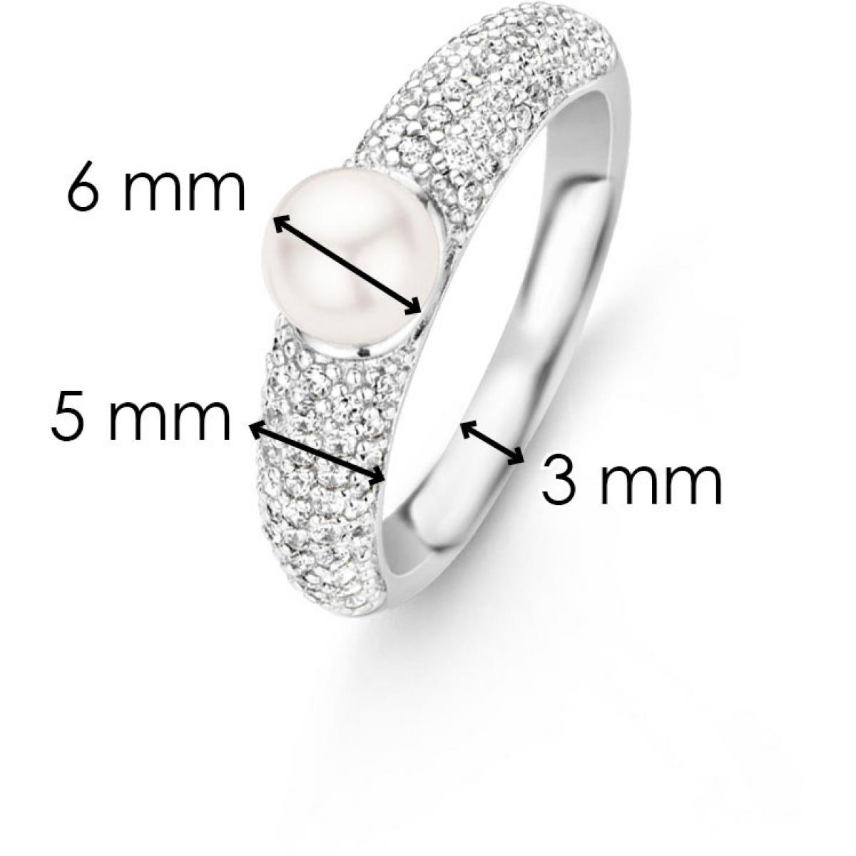 Ti Sento Bague Liberation 12091PW - Rond Sertie Blanche Femme 12091PW-52