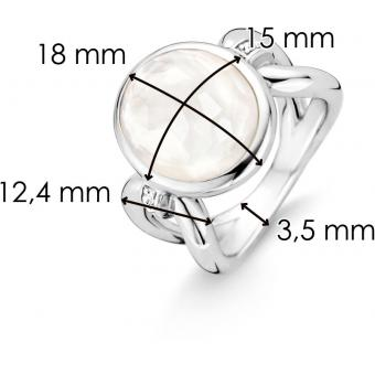 Ti Sento Bague Ti Sento Mother Of Pearl 12078MW - Sertie Nacrée Femme 12078MW-56