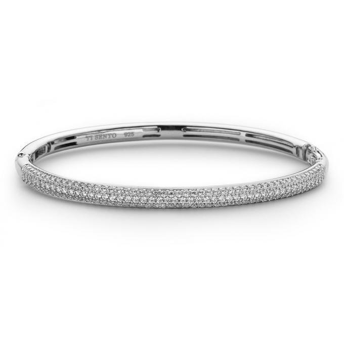 Plus Sento Pavé D'infos 2874zi Argent Zirconium Ti Bracelet Femme TcuK3J1lF5