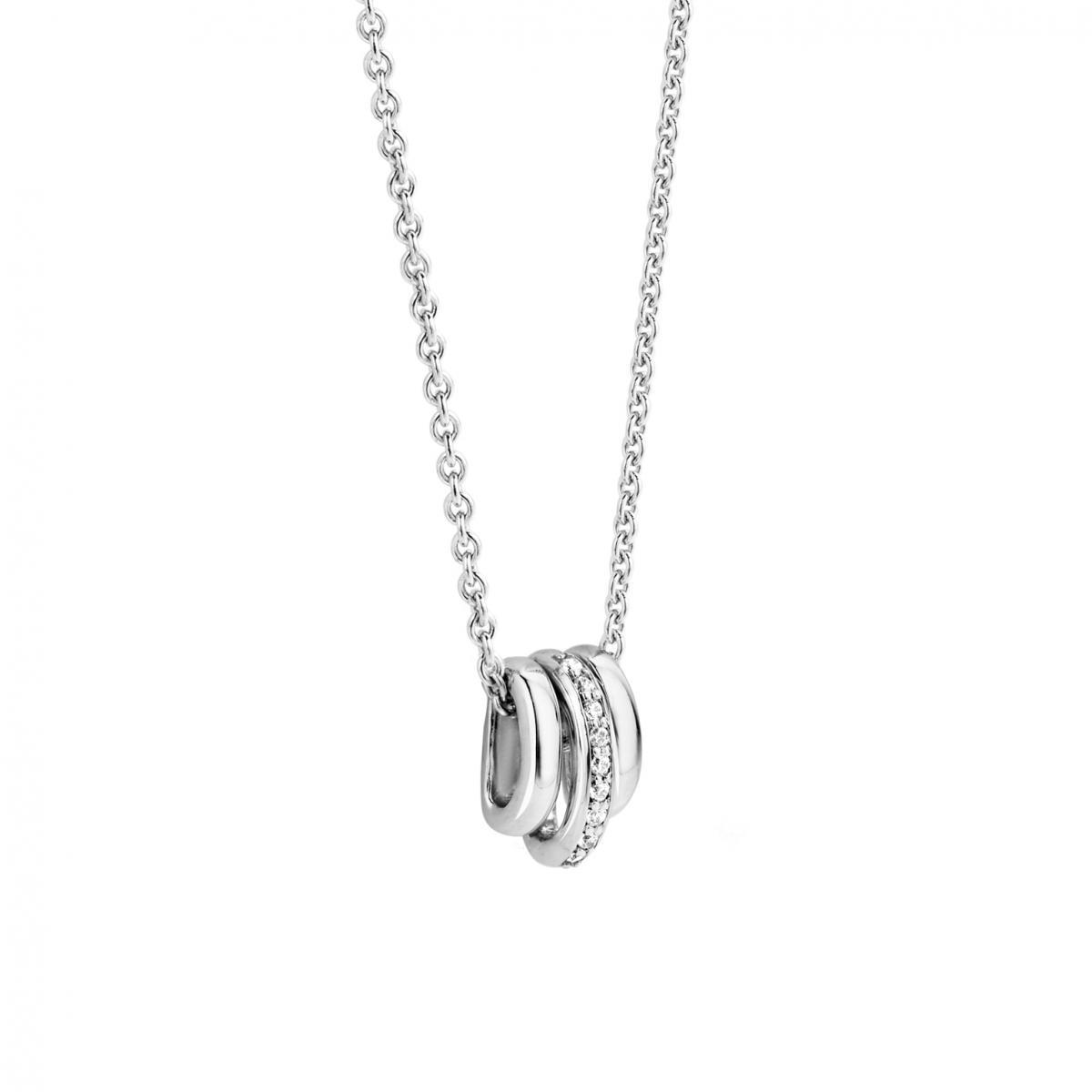 collier argent anneau