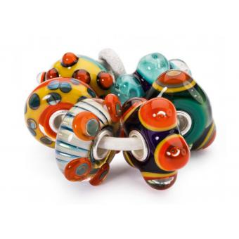 Trollbeads - Set de Charms Multicolores Murano Femme - Bijoux Charms