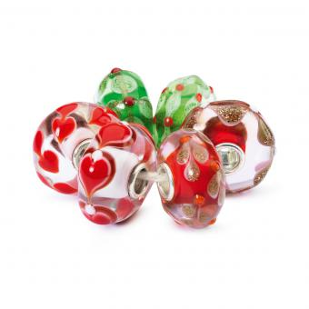 Charms Lot Fête Rouge Verre Trollbeads